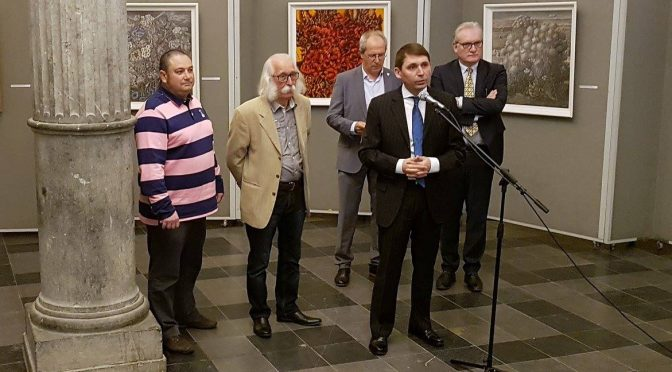 Ivan Marchuk paintings. The exhibition is dedicated to the 25th anniversary of establishment of diplomatic relations between Ukraine and Belgium.